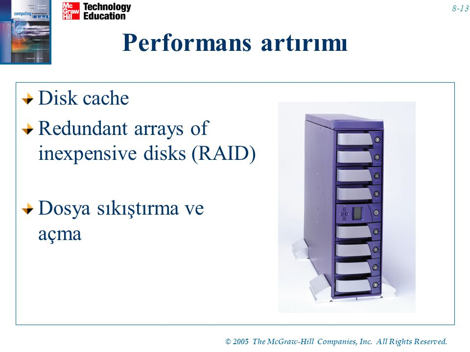 Performans artırımı Disk cache