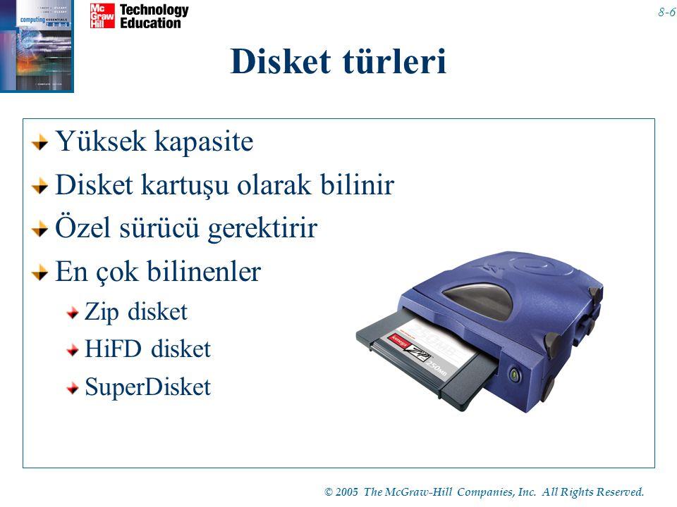 Disket türleri Yüksek kapasite Disket kartuşu olarak bilinir
