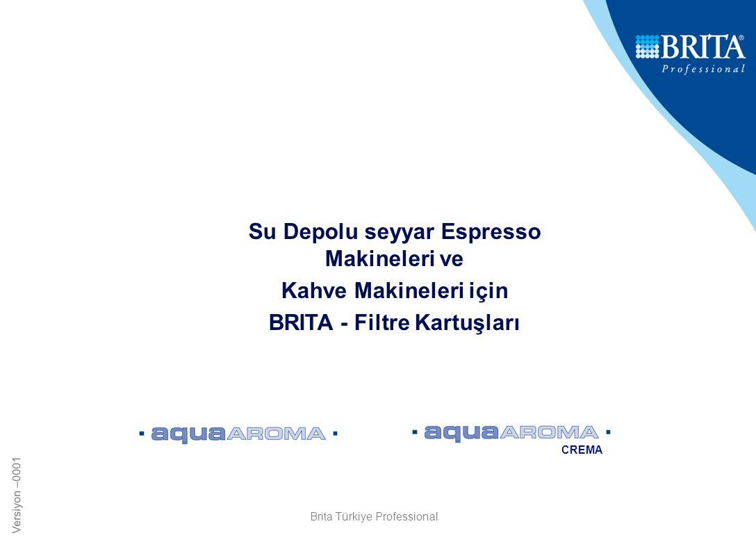 Su Depolu seyyar Espresso Makineleri ve BRITA - Filtre Kartuşları