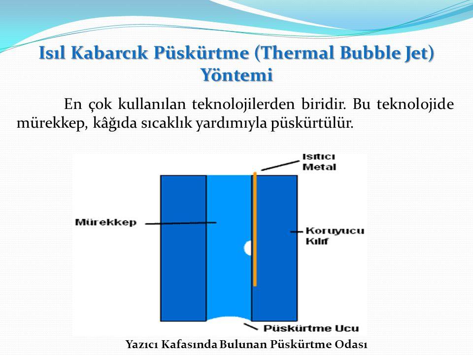 Isıl Kabarcık Püskürtme (Thermal Bubble Jet) Yöntemi