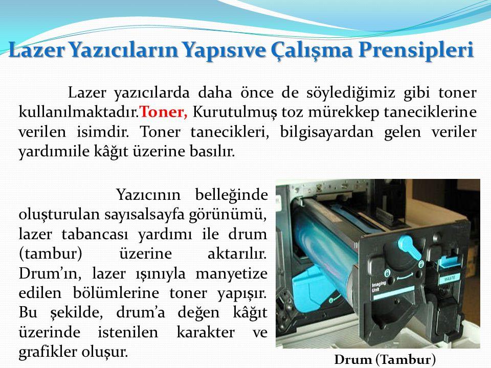 Lazer Yazıcıların Yapısıve Çalışma Prensipleri