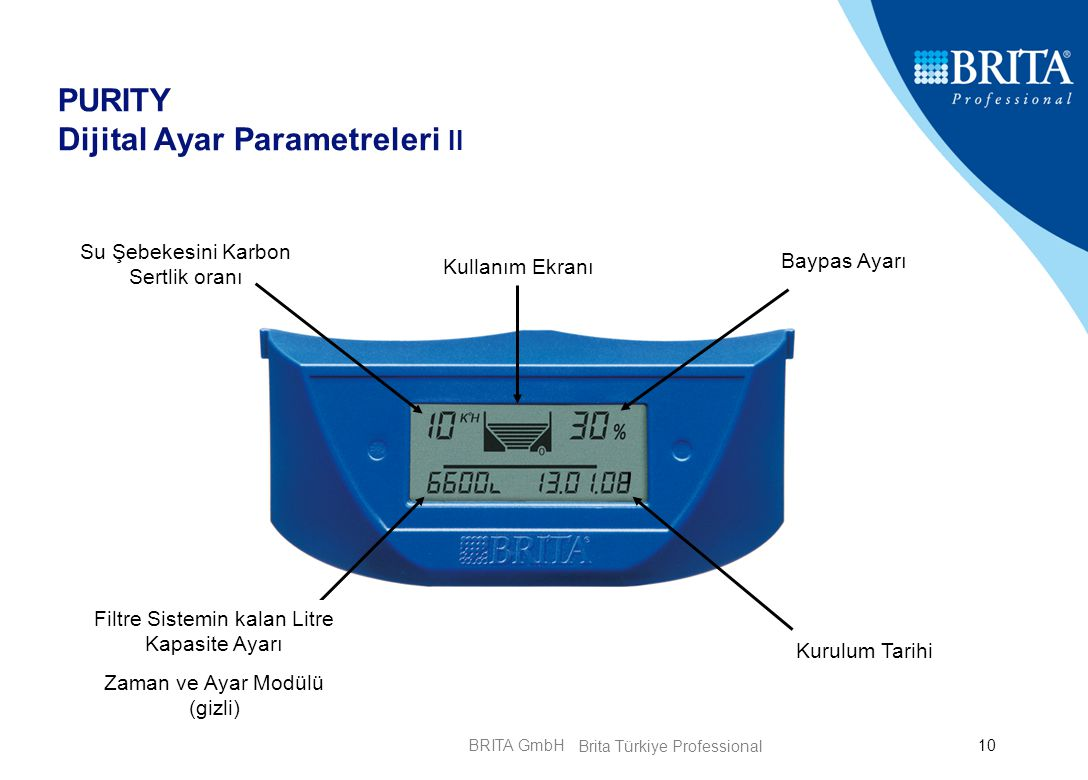 PURITY Dijital Ayar Parametreleri II