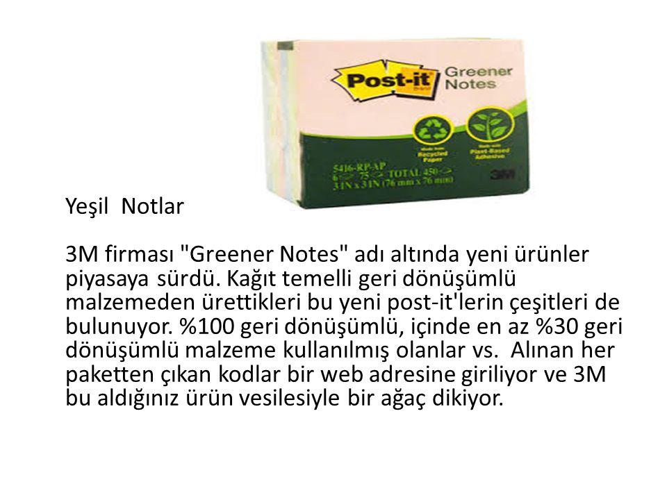 Yeşil Notlar 3M firması Greener Notes adı altında yeni ürünler piyasaya sürdü.