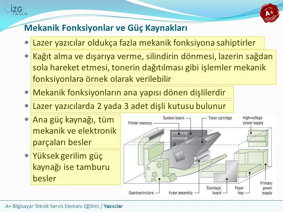 Mekanik Fonksiyonlar ve Güç Kaynakları