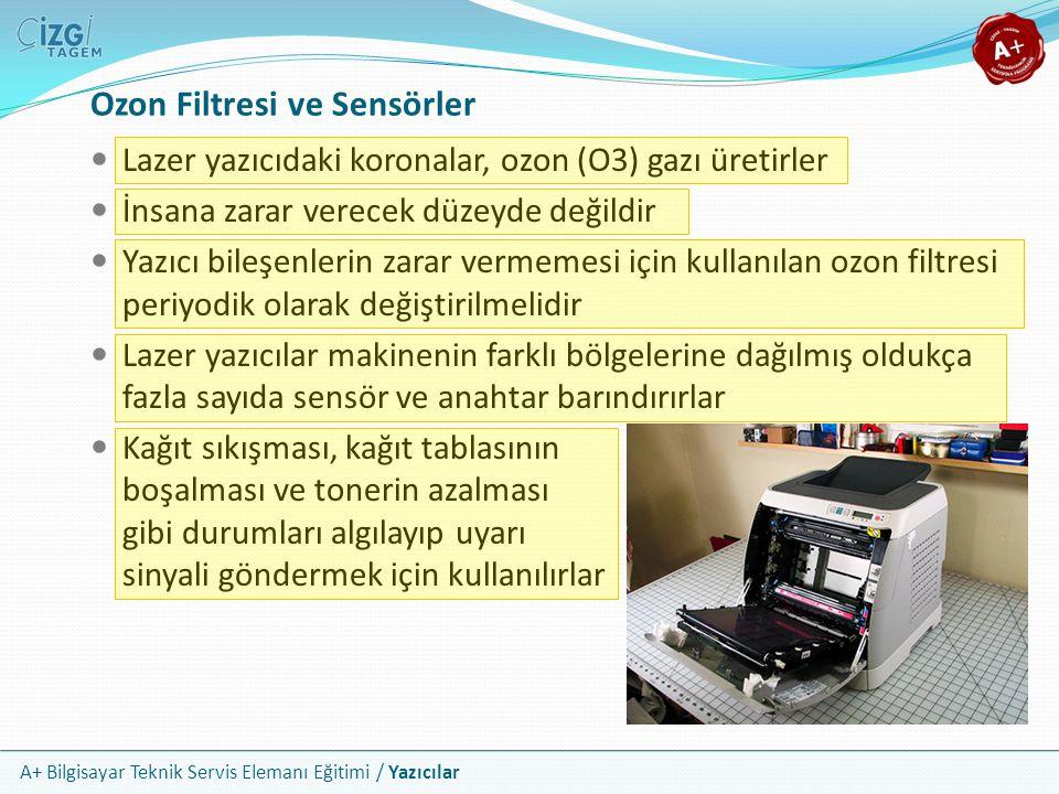 Ozon Filtresi ve Sensörler