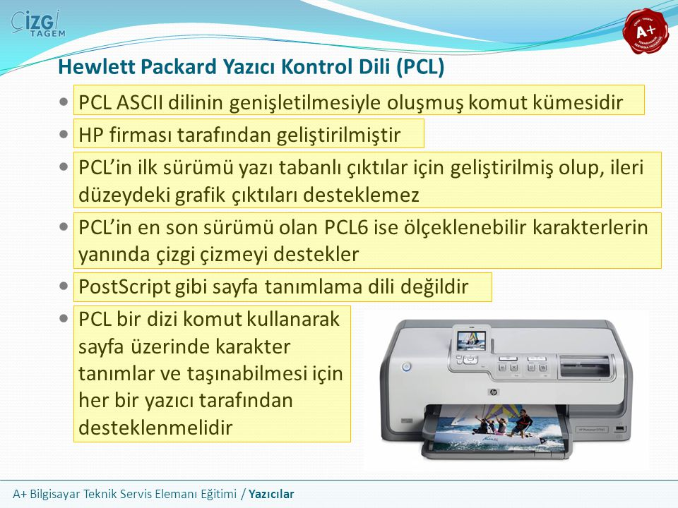 Hewlett Packard Yazıcı Kontrol Dili (PCL)