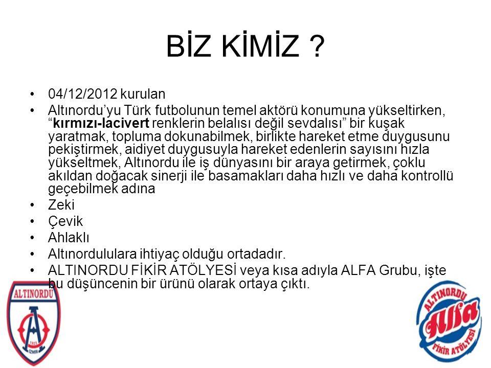 BİZ KİMİZ 04/12/2012 kurulan.