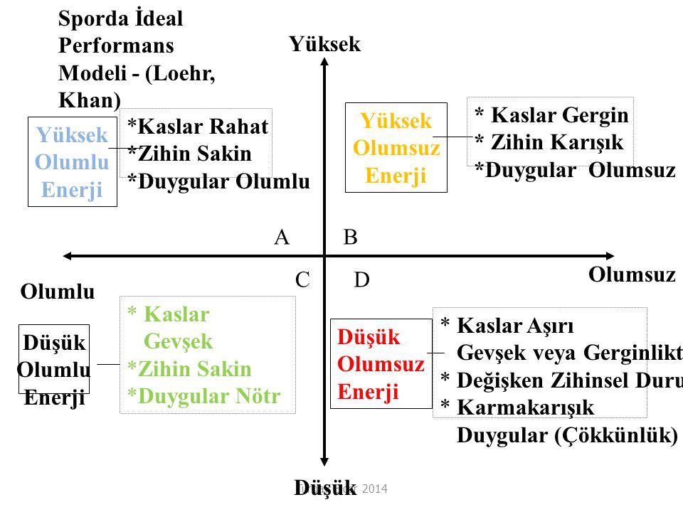 Sporda İdeal Performans Modeli - (Loehr, Khan) Yüksek