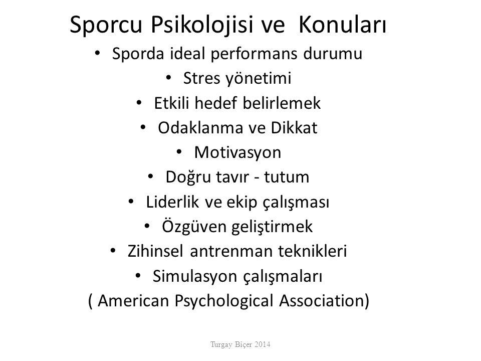 Sporcu Psikolojisi ve Konuları