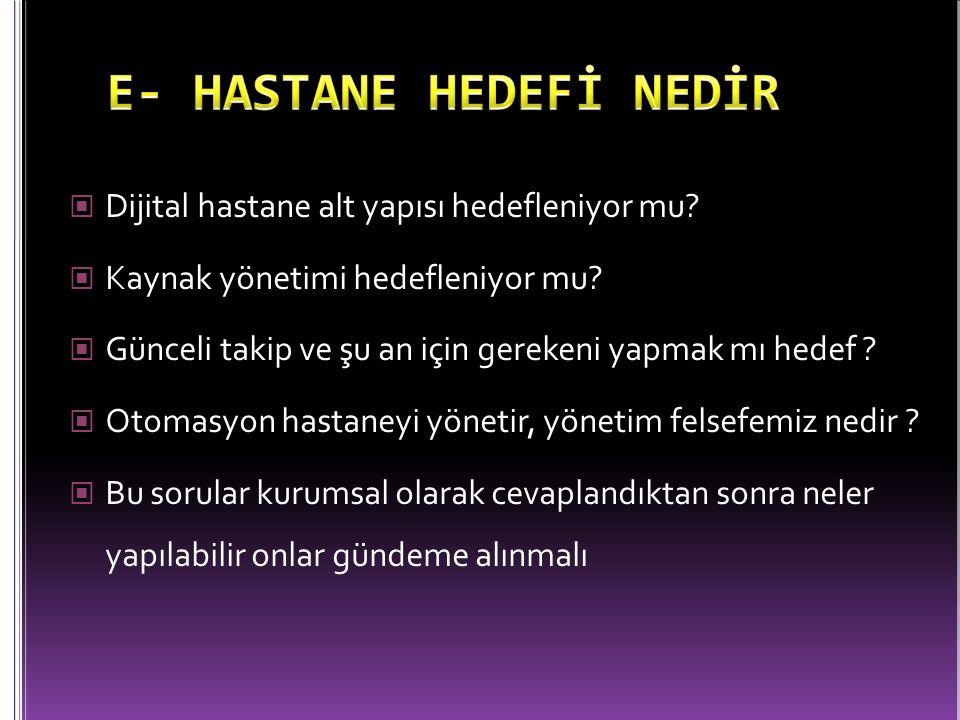 E- HASTANE HEDEFİ NEDİR