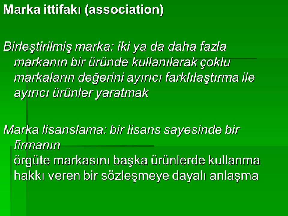 Marka ittifakı (association)