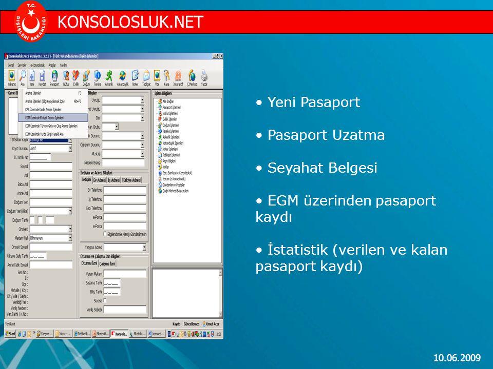 KONSOLOSLUK.NET Yeni Pasaport Pasaport Uzatma Seyahat Belgesi