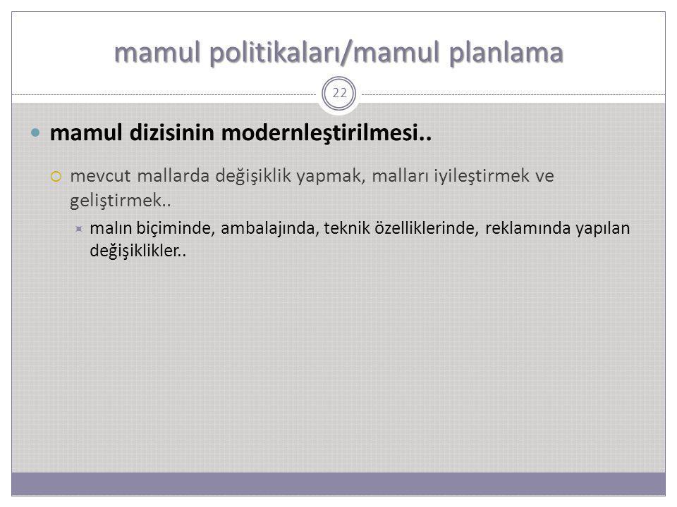 mamul politikaları/mamul planlama