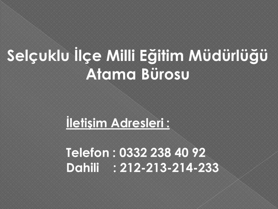 Selçuklu İlçe Milli Eğitim Müdürlüğü