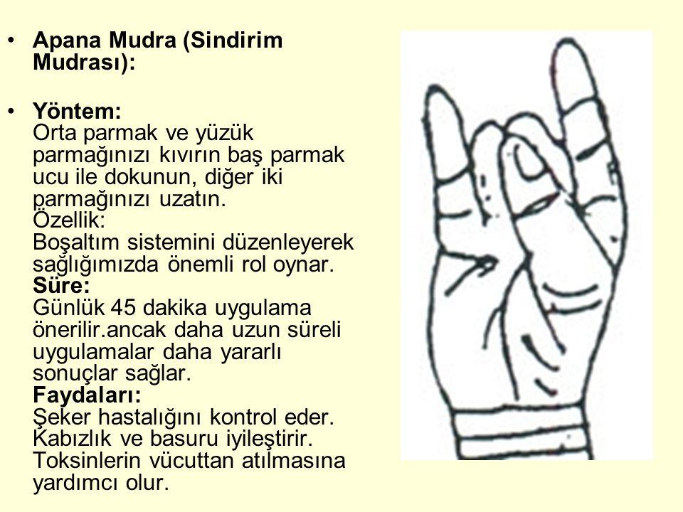 Apana Mudra (Sindirim Mudrası):