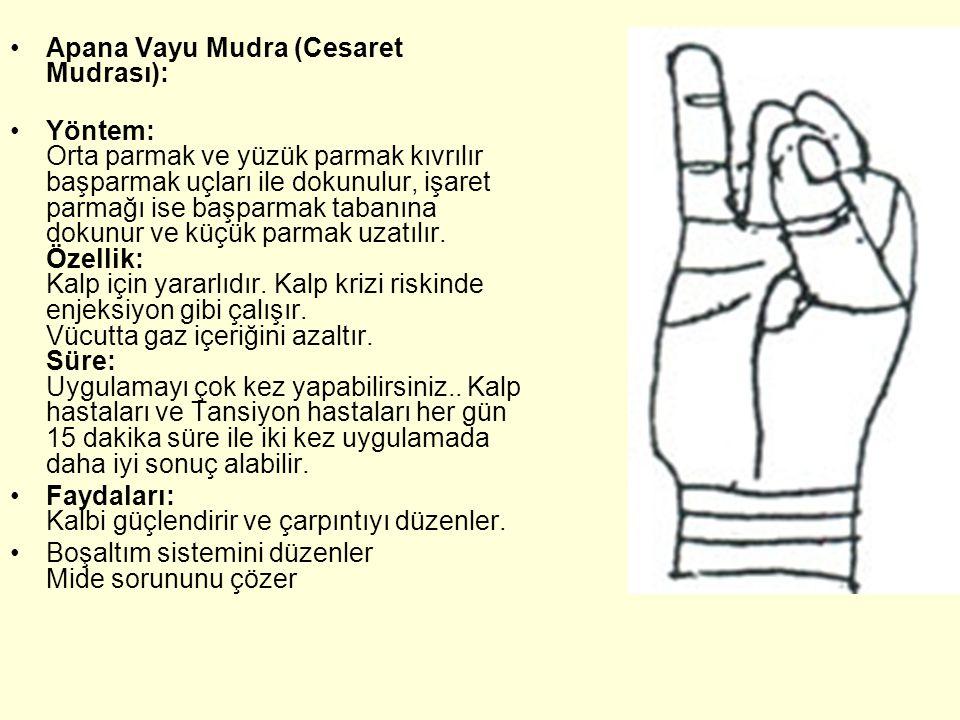 Apana Vayu Mudra (Cesaret Mudrası):