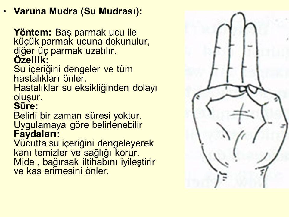 Varuna Mudra (Su Mudrası):