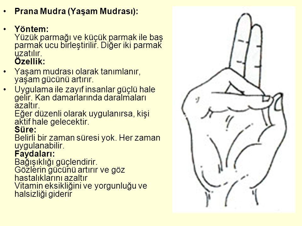 Prana Mudra (Yaşam Mudrası):
