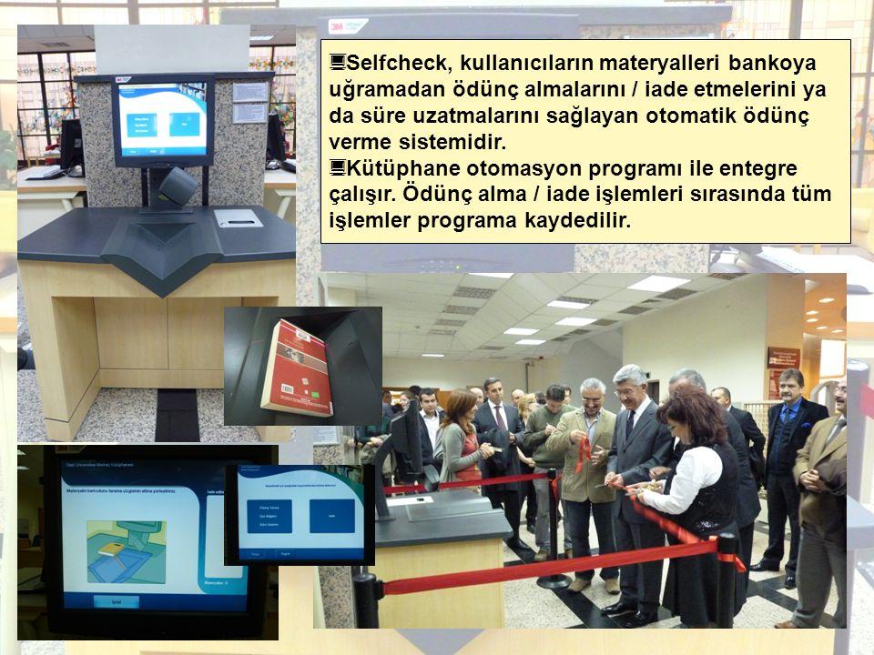 Selfcheck, kullanıcıların materyalleri bankoya