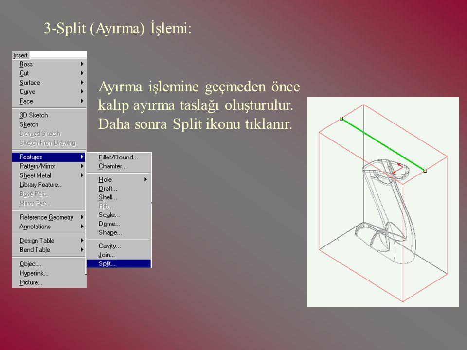 3-Split (Ayırma) İşlemi:
