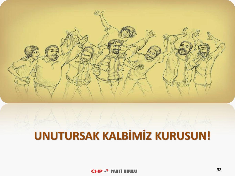 UNUTURSAK KALBİMİZ KURUSUN!