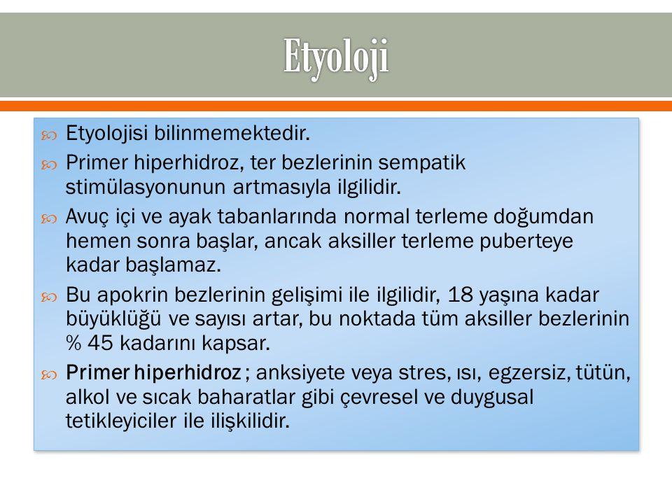 Etyoloji Etyolojisi bilinmemektedir.