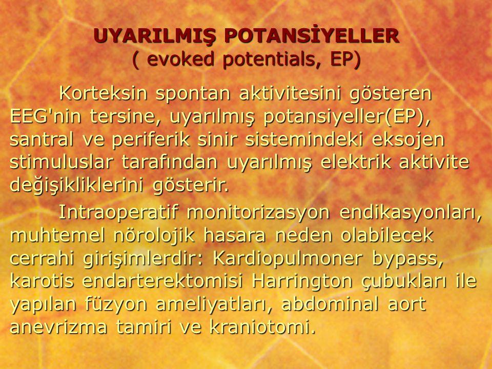 UYARILMIŞ POTANSİYELLER ( evoked potentials, EP)