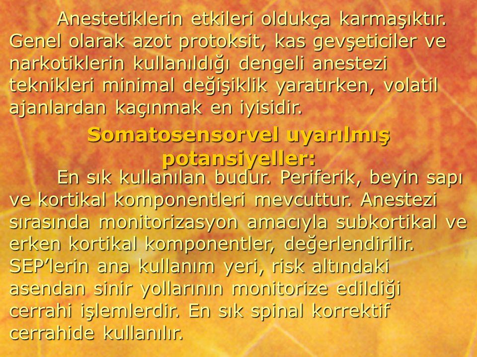 Somatosensorvel uyarılmış potansiyeller: