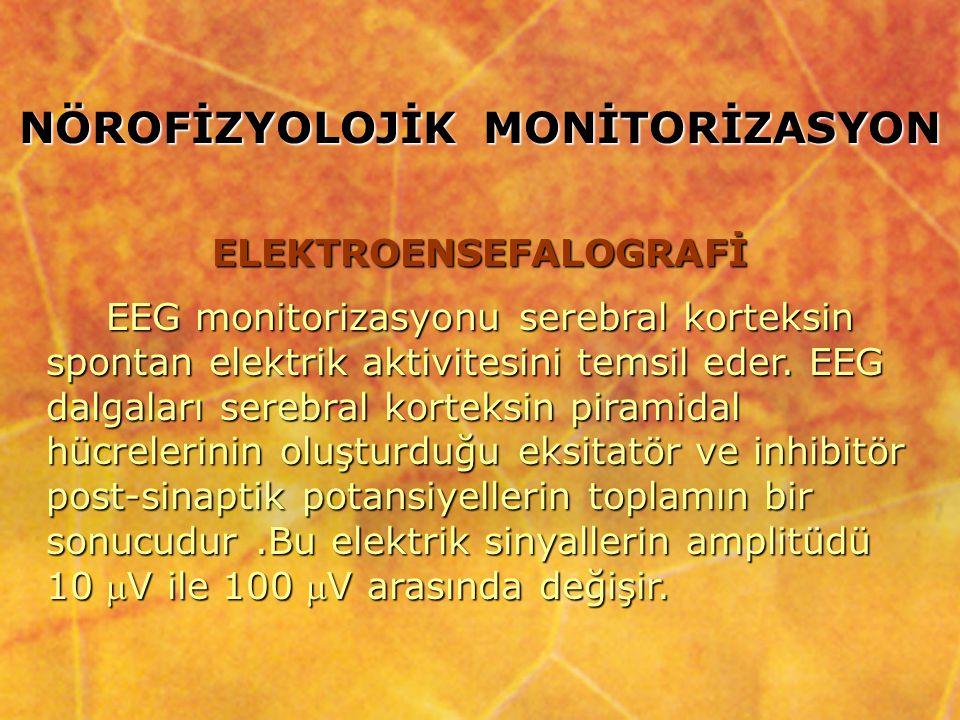 NÖROFİZYOLOJİK MONİTORİZASYON ELEKTROENSEFALOGRAFİ