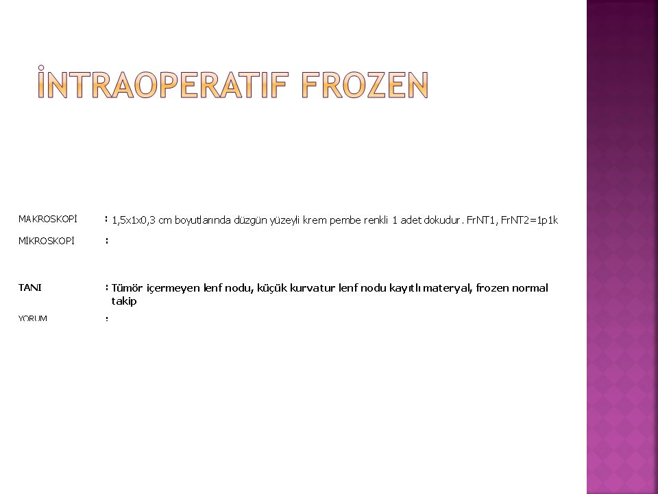 İntraoperatif frozen
