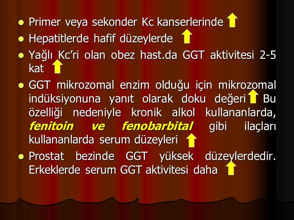 Primer veya sekonder Kc kanserlerinde
