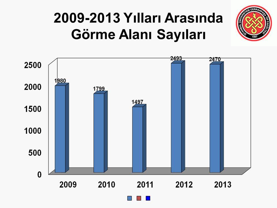 2009-2013 Yılları Arasında Görme Alanı Sayıları