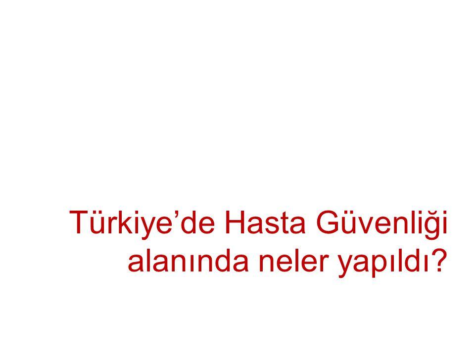 Türkiye'de Hasta Güvenliği alanında neler yapıldı