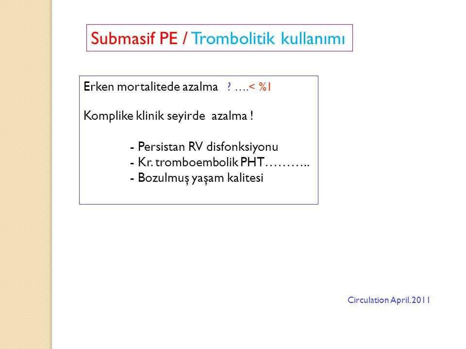 Submasif PE / Trombolitik kullanımı