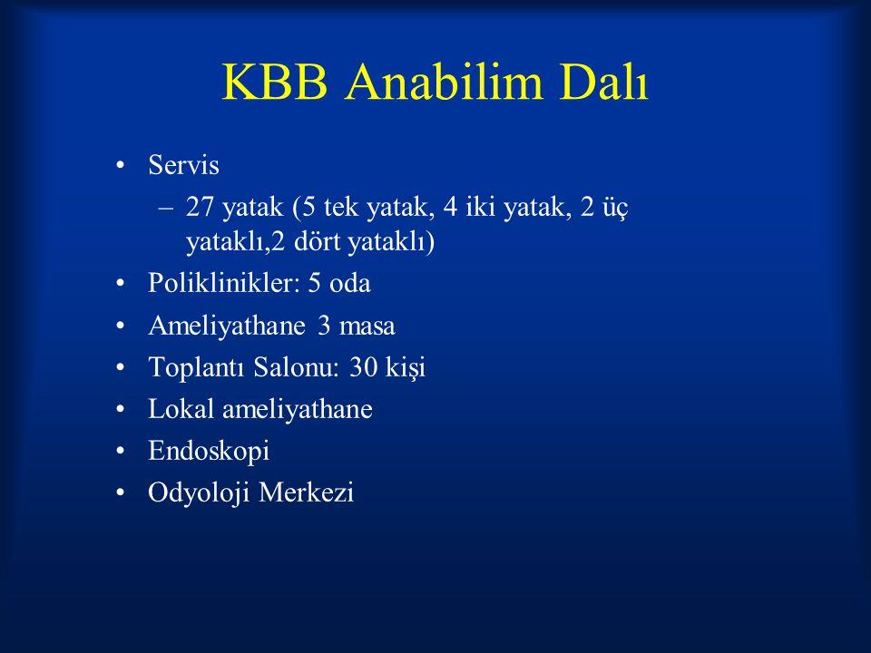 KBB Anabilim Dalı Servis