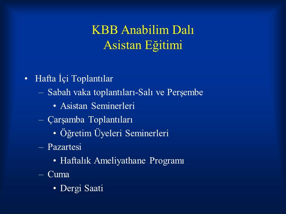 KBB Anabilim Dalı Asistan Eğitimi