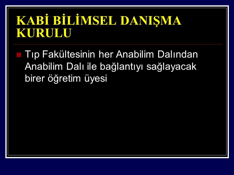 KABİ BİLİMSEL DANIŞMA KURULU