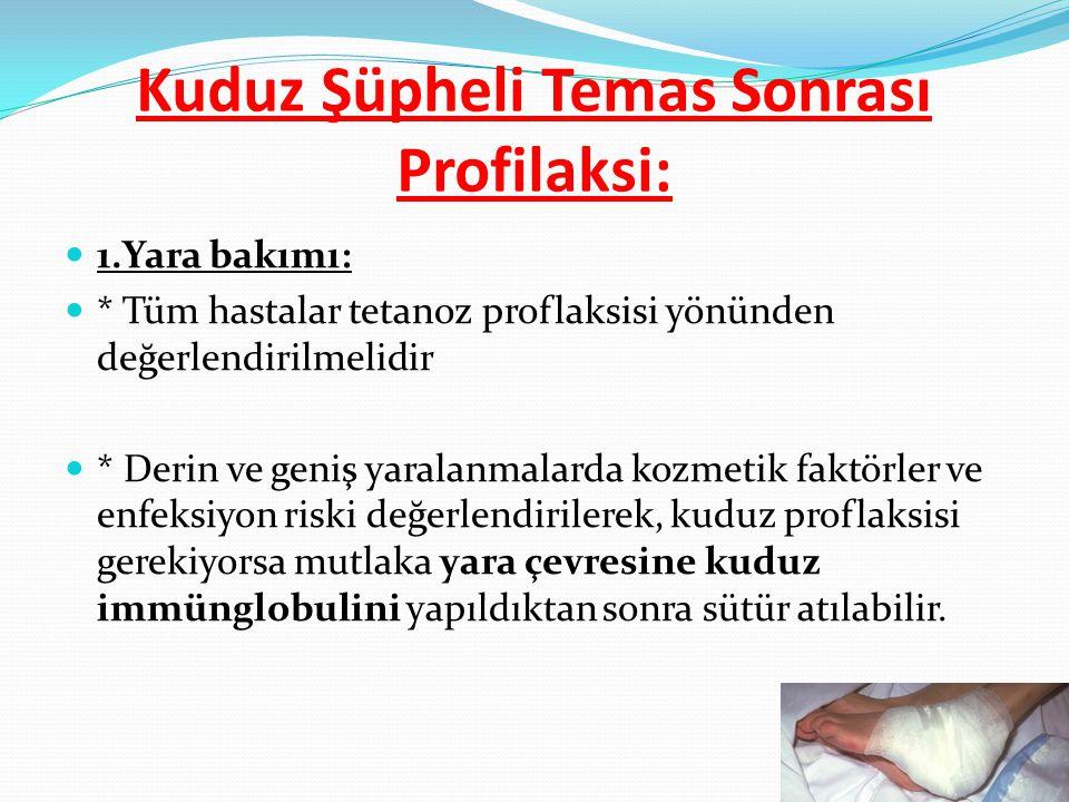 Kuduz Şüpheli Temas Sonrası Profilaksi: