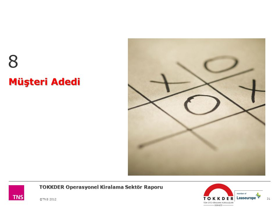 8 Müşteri Adedi TOKKDER Operasyonel Kiralama Sektör Raporu