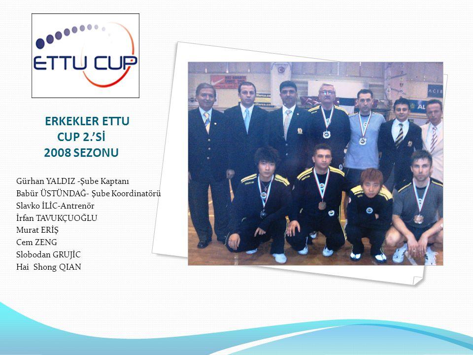 ERKEKLER ETTU CUP 2.'Sİ 2008 SEZONU