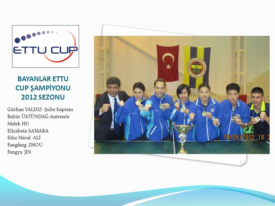 BAYANLAR ETTU CUP ŞAMPİYONU 2012 SEZONU