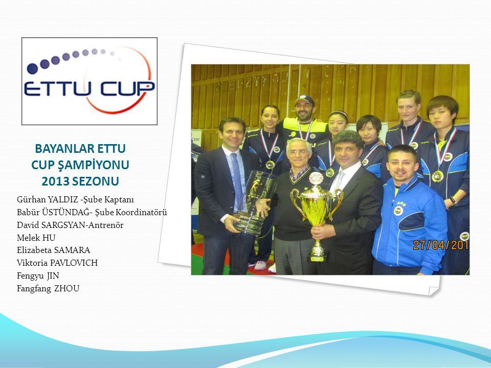 BAYANLAR ETTU CUP ŞAMPİYONU 2013 SEZONU