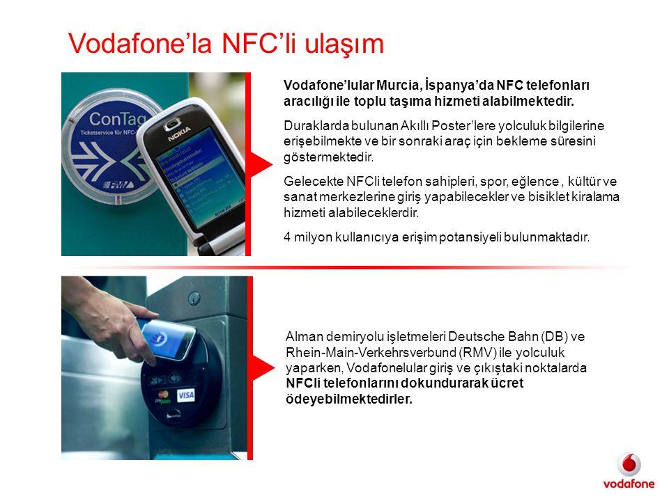 Vodafone'la NFC'li ulaşım