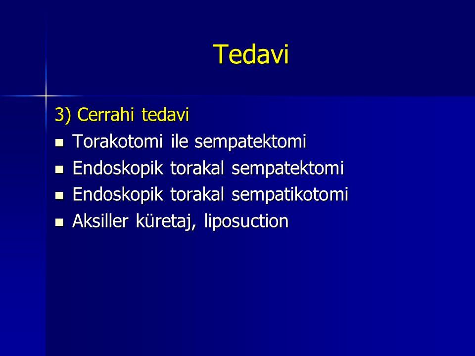 Tedavi 3) Cerrahi tedavi Torakotomi ile sempatektomi
