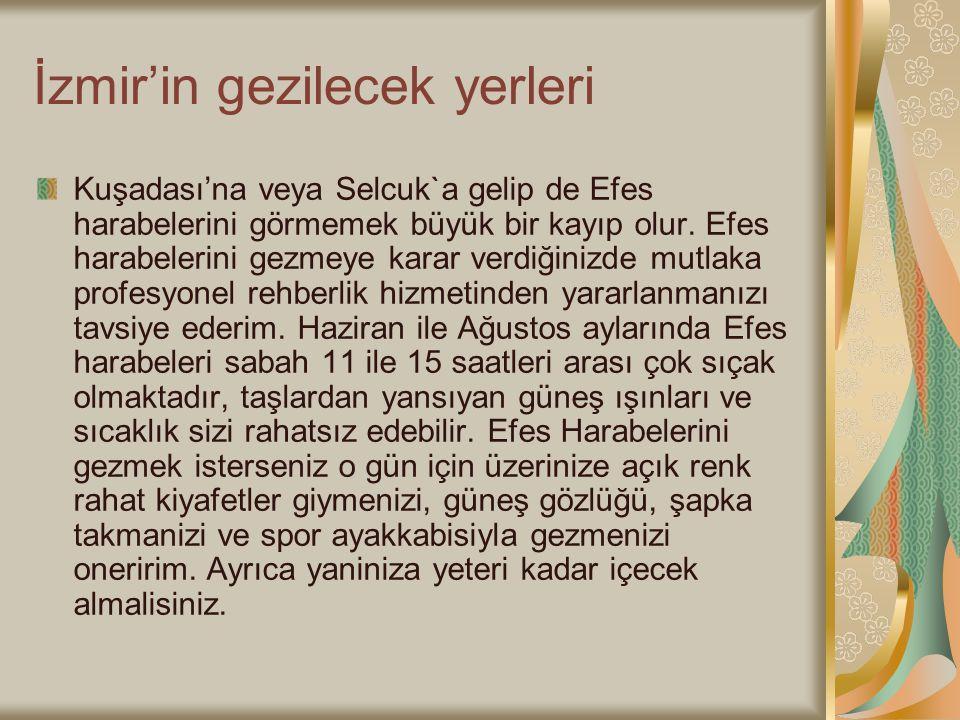 İzmir'in gezilecek yerleri
