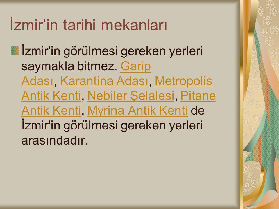 İzmir'in tarihi mekanları