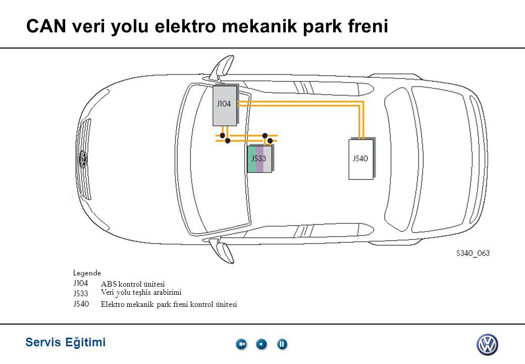 CAN veri yolu elektro mekanik park freni