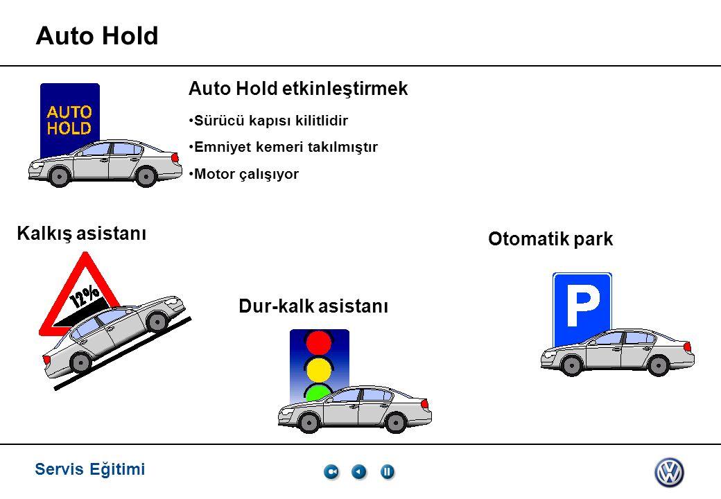 Auto Hold Auto Hold etkinleştirmek Kalkış asistanı Otomatik park