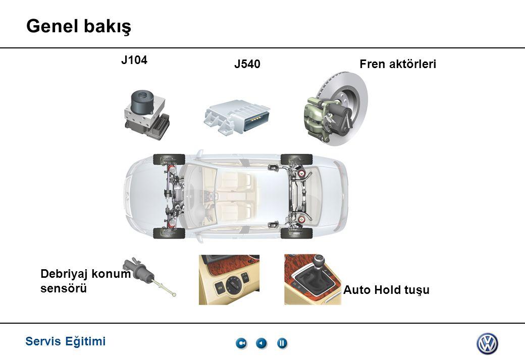 Genel bakış J104 J540 Fren aktörleri Debriyaj konum sensörü