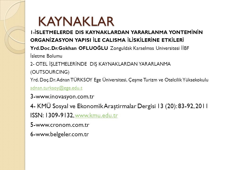 KAYNAKLAR 3-www.inovasyon.com.tr
